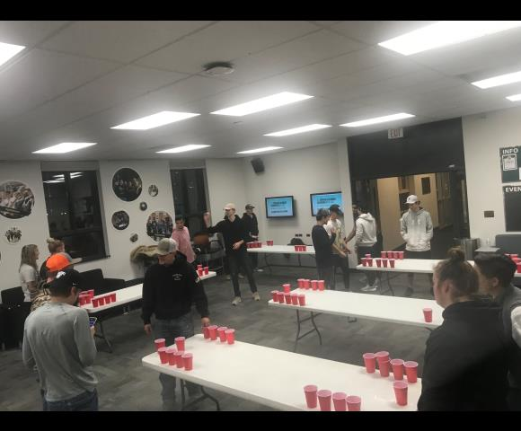 Root Beer Pong Tournament in the Teton Lounge.